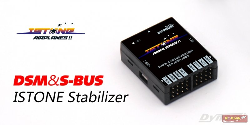 [Urun]:  Uçak Uçuş Stabilizörü : DetrumTech ISTONE-All DSM 6-Axis Gyro & Stabilizer