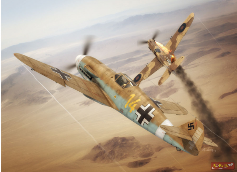 Messerschmitt Bf 109 F  RC modeli - 3D Baski